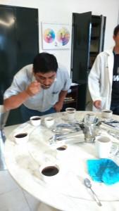 Proceso de catacion de Café