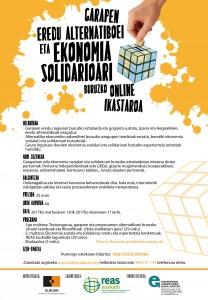 Garapen eredu alternatiboei eta ekonomia solidarioari buruzko online ikastaroa